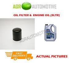 DIESEL OIL FILTER + C1 5W30 ENGINE OIL FOR MAZDA 5 2.0 110 BHP 2005-10