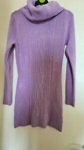 Women Long Purple Dress Jumper Sweater Size S/M