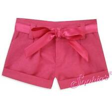 """Hot Pink Tie Waist Pleated Shorts fit 18"""" American Girl Doll"""