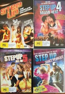 STEP UP 1 2 3 4 5 + DANCE WORKOUT - the complete franchise DVD VERY GOOD