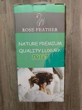 Rose Feather 100% Down Spring Summer Lightweight Duvet Green