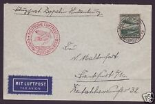 Zeppelin Cover   Airmail   Via Hindenberg   DSS