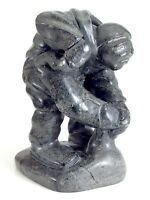 Soapstone Inuit Eskimo Sakariasi Tayarak Carving Art Sculpture Figurine K405