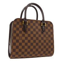 LOUIS VUITTON TRIANA HAND BAG VI0010 PURSE DAMIER CANVAS EBENE N51155 O03023