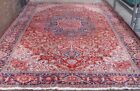 Excellent Hand-Knotted Azerbaijani Wool Red Antique Oriental Rug 12' x 18'