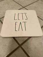 Rae Dunn Let's Eat Platter Hot Plate New