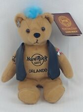 Hard Rock Cafe Orlando Plush Bear - w/Tush Tag - 2010 - Live. Love. Rock. Mohawk