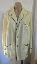 Men's 50s Pale Yellow Pj's w/ Black Piping and Mono Hek