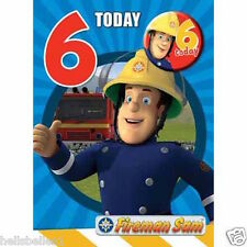 "OFFICIAL FIREMAN SAM ""6TH"" BIRTHDAY CARD WITH FREE BADGE*** FREE 1ST CLASS P&P**"