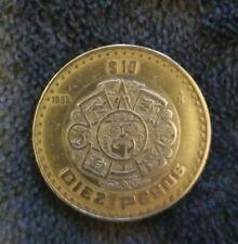 Mexico 1998 $10 Pesos Bimetallic Silver Center Mexican Coin
