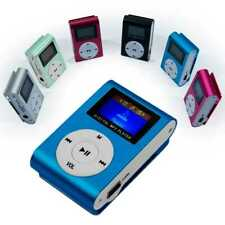 Mini Reproductor MP3 Player Clip LCD Aluminio hasta 32Gb Micro SD Radio FM Azul