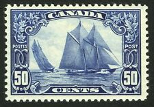 Canada #158 50c Dark Blue 1929 Bluenose XF *MLH* CV $350+
