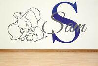 Dumbo name Children Name Boy Girl dumbo elephant sticker decal custom