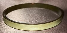 Estate Collectable ~ India Cream & Brass Slim Bangle ~ Vintage