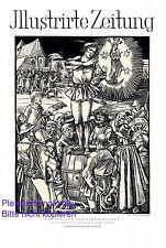 Der Pfeifer von Niklashausen XL Kunstdruck 1928 von Rudolf Schiestl Titelseite +