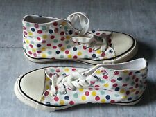 atmosphere high top womens spoty multicoloured canvas  trainers shoes size 7 UK
