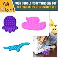 Push Pop Bubble Kids Toy Special Needs Silent Sensory Fidget Autism Classroom