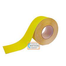 100mm x 20m Amarillo Antideslizante Cinta adhesiva muy Adherente trasera