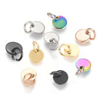 20pcs 304 Stainless Steel Tag Coin Charms Ring Stamping Blanks 6mm 8mm 10mm 12mm