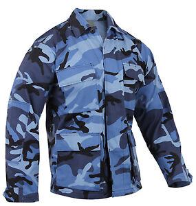 military style bdu shirt coat sky blue camo camouflage rothco 8882