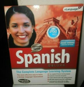 eLanguage Learn to Speak Spanish  Deluxe 2005 Pre-Owned (VG) Free Shipping