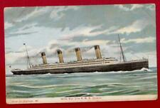 "WHITE STAR LINE R.M.S.""OLYMPIC"" POSTCARD POSTED JUNE 13TH 1911."