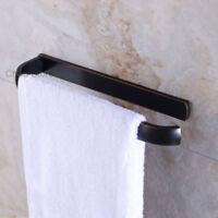 Bathroom Black Matte Towel Rail Rack Storage Holder Wall Mounted Towel Bar Shelf