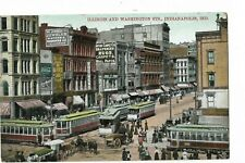 ILLINOIS AND WASHINGTON STS  INDIANAPOIS IND. UNPOSTED  TROLLEYS