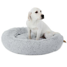 New listing Calming Dogs Cats Bed Dog Beds Fur Donut Cuddler Pet Soft Warmer Dogs Cats Bed