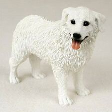 Kuvasz Dog Hand Painted Figurine Resin Statue Collectible white puppy New canine