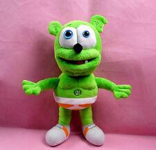 """Green Singing I AM A GUMMY BEAR MUSICAL Gummibar Soft Plush doll toy 12"""" 30cm"""