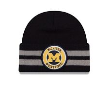 NEW NWT New Era NCAA Michigan Wolverines Cuff Knit Beanie Hat, Cap One Size Blue
