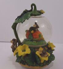 Charming Tails Pumpkin Harvest Musical Water Globe Dean Griff Fitz Floyd