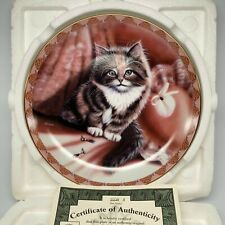 1995 Alexandra In Amethysts, Coa Bradford Exchange Cat Plate Bradex 84-B10-127.4