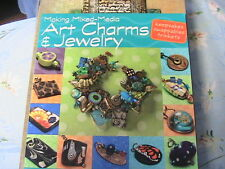 MAKING MIXED-MEDIA ART CHARMS & JEWELRY~SIGNED 1st ed~patterns~how to~techniques