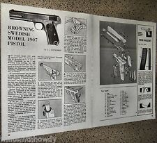 Browning Swedish Model 1907 Pistol Exploded View Parts List  Assembly Article
