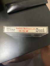 Grateful Dead Live Cassette Tape 10/13/68 Avalon Ballroom, CA