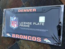 1 Denver Broncos Black Metal Vehicle License Plate Frame - Nice 3D Graphics