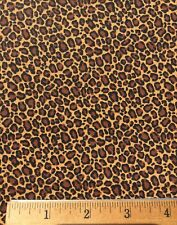 "CHEETAH Leopard Cotton Fabric MINI Print Fat Quarter DIY Mask Making 18"" X 22"""
