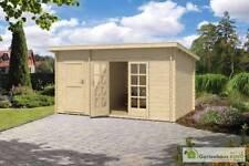 Gartenhäuser & Geräteschuppen mit 10,1-24 m² Fläche Blockbohlen-Pultdach