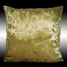 """SHINY SMOOTH PLAIN GOLD THICK VELVET DECO CUSHION COVER THROW PILLOW CASE 17"""""""