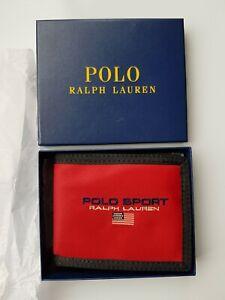 New Ralph Lauren POLO Sport Red Wallet Bifold Mens Christmas Gift