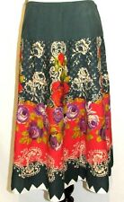 Urban Behavior NWT Sz Small Floral Cotton Flare Skirt Boho Gypsie Green Pink NEW