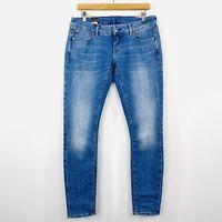 G-Star Raw Womens Low 3301 Skinny Jeans Light Blue Wash Stretch Size W 31 L 32