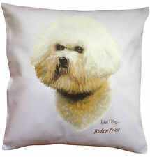 Bichon Frise RM Breed of Dog Themed Cotton Cushion Cover - Perfect Gift