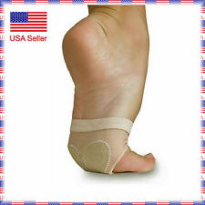 E04 Ballet Belly Lyrical Dance Paws Cushion Bare Foot Pad Thong Half Sole Shoes
