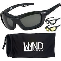59e40f65b6e WYND Blocker Motorcycle Sunglasses Sports Boating Motorsports Driving  Glasses
