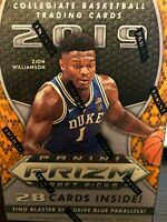 2019 Panini Prizm Draft Picks Basketball Card Blaster Box Zion Williamson rookie