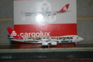 """JC Wings 1:400 Cargolux Boeing 747-8F LX-VCM """"Cutaway"""" (XX4709) Model Plane"""