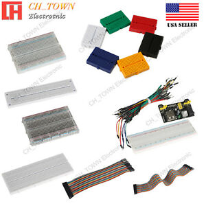 400 760 830 170 TiePoints Solderless PCB BreadBoard Jump Cable Wires For Arduino